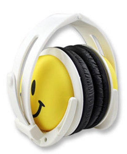 Nuoya001 Foldable Cute Smile Happiness Overhead Kids Dj Headphones Leappad Innotab Iphone