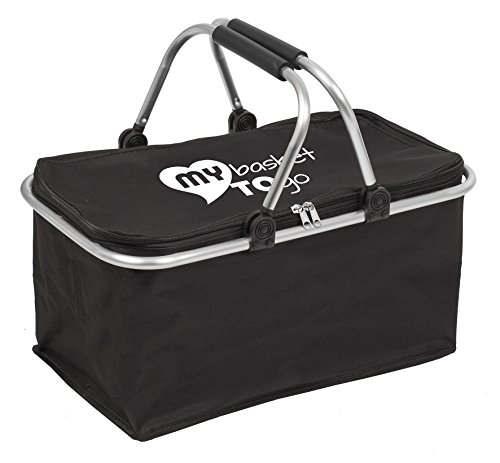 my-basket-to-go-stabile-leggero-cesto-nero-per-la-spesa-o-per-il-picnic-rinforzato-con-un-telaio-in-