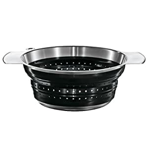 Rosle 16124 10-Inch Collapsible Colander, Black