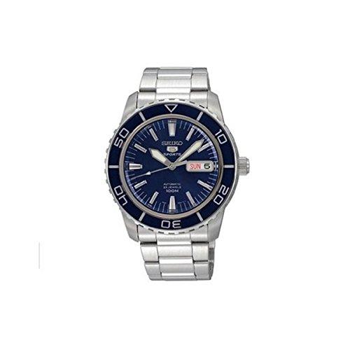 Seiko Men's SNZH53 Seiko 5 Automatic Dark Blue Dial Stainless Steel Watch (Seiko Watches Blue Dial compare prices)