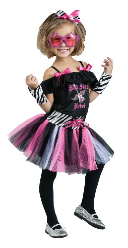 Rock Star Rebel Costume - 80s Girl's Costume WB