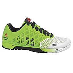 Reebok Women\'s Crossfit Nano 4.0 Solar Training Shoe, Solar Green/Porcelain/Black, 9 M US