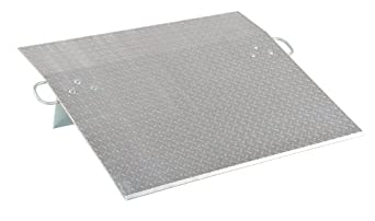 "Vestil E-4824 Aluminum Economizer Dock Plate, 5,200-lb. Capacity, 24"" Length, 48"" Width, 3"" Height Difference, 3/8"" Plate Thickness"