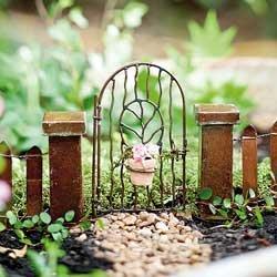 Fairy Garden Vine Gate w/Pot (Trinity River Ca compare prices)