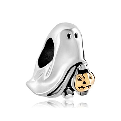 Charmed Craft New Style Fashion Halloween Charms Ghost Pumpkin Candy Beads Pandora Compatible Charms
