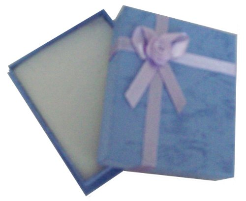 Small Blue Gift Necklace Present Box With Satin
