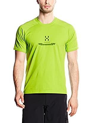 Haglöfs Camiseta Manga Corta Apex Logo (Verde Claro)