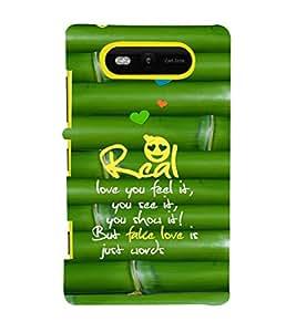 EPICCASE real love Mobile Back Case Cover For Nokia Lumia 820 (Designer Case)