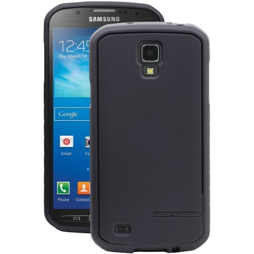 Body Glove Dimension Satin Duragel Case For Samsung Galaxy S4 Active - Carrying Case - Retail Packaging - Charcoal