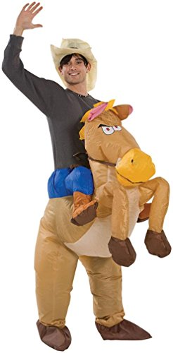 Inflatable Riding On Horse Halloween Costume OSFM