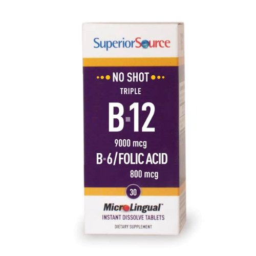 Superior Source Triple Vitamin B12 9K/B-6/F. Acid (30 Tablets)