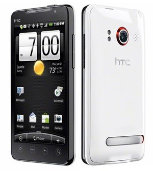 Sprint HTC Evo 4g Smart Phone (White)