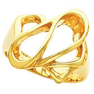 14K Yellow Gold Metal Fashion Ring Size: 6