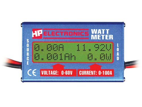 Hobby People Watt Meter - In-Line, Volts, Curr, Watts, Energy