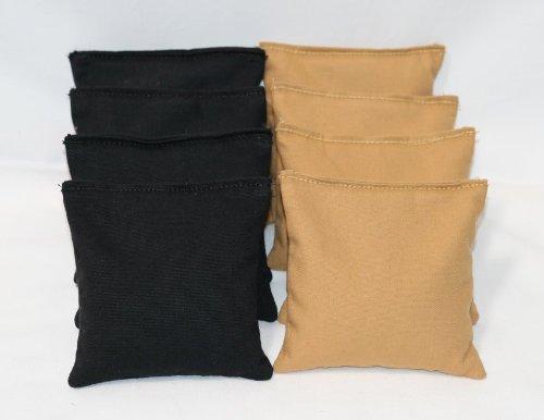 Cornhole Bags Set - (4 Black, 4 Gold) By Free Donkey Sports