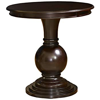 Powell Espresso Round Accent Table