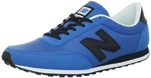 New Balance U410 D (13H) - Caña baja de material sintético hombre, color azul, talla 45