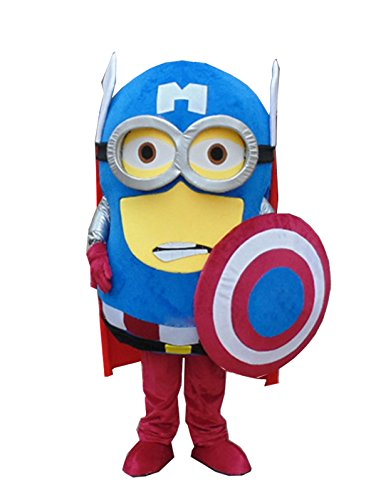 Winnie Despicable Me Minions Mascot Costume Minions America Captain Cosplay