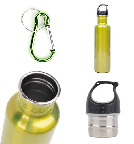 Stainless Steel Water Bottle Canteen 25Oz. - Single Pack - Eco Green front-1042936