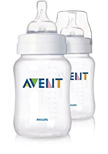 Philips AVENT SCF683/27 Classic Feeding Bottles (Slow Flow - 260 ml - 2-Pack)
