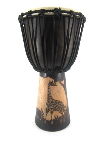 50cm Profi Djembe Trommel Bongo Giraffe Holz