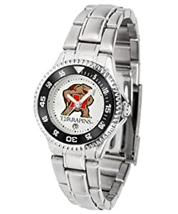 Maryland Terps Ladies Stainless Steel Watch by SunTime