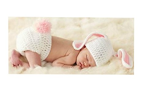 Mud Pie Baby-girls Newborn Easter Photo Bunny Set W Bracelet for Mom
