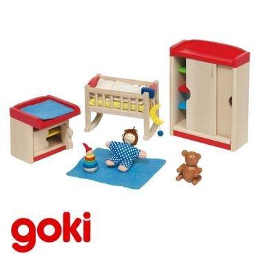 Chambre de bébé mobilier meubles maison de poupées Jouet en bois Enfant 3 ans +