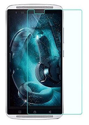 PES Tempered Glass for Lenovo Vibe X3 [Cutout for Proximity Sensor], 0.3mm thickness, 9H Hardness, 2.5D Curved Edge, Reduce Fingerprint, No Rainbow, Shatterproof, Bubble Free & Oil Stains Coating with Alcohol wet cloth pad & clean micro fibre Dry cloth, Anti Explosion Tempered Glass Screen Protector for Lenovo Vibe X3