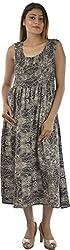 HotShot Women's Cotton V-Neck Dress (RH017, Small)