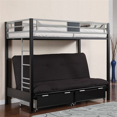 Full Over Futon Bunk Bed 6687 front