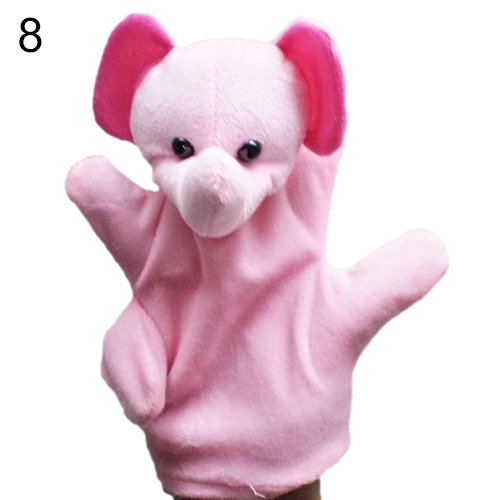 [Delicate Baby Child Zoo Farm Animal Hand Glove Puppet Finger Sack Plush Toy^elephant.] (Kermit The Frog Mens Halloween Costume)