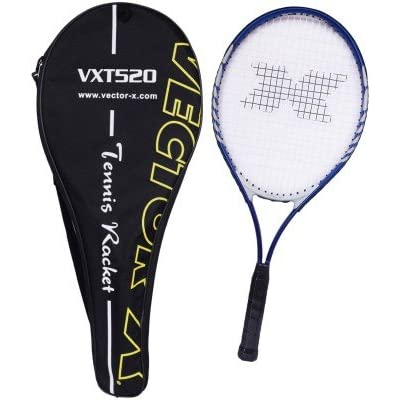 Vector X Vxt 520 26 inches with full cover Strung Tennis Racquet (Blue, White)