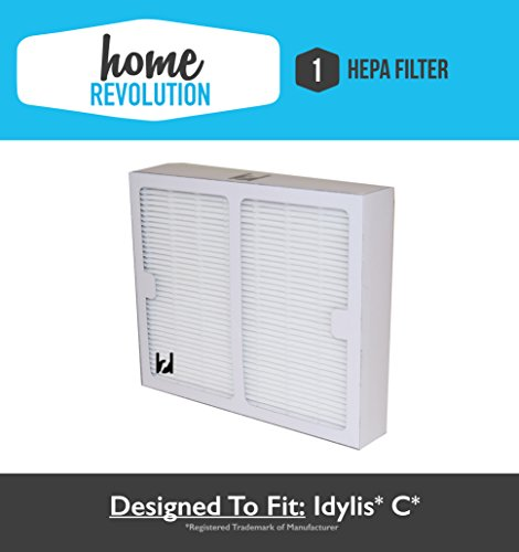 Idylis B Hepa Home Revolution Brand Air Purifier Filter; Replacement Made To Fit Idylis IAP-10-125, IAP-10-150; Model # IAF-H-100B, IAFH100B