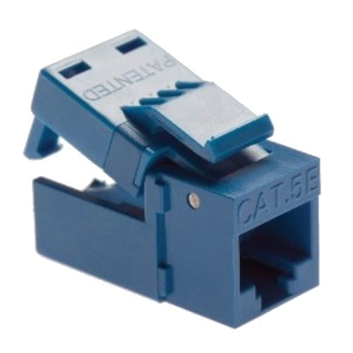 Platinum Tools EZ-SnapJack Cat6, Blue. 4/Clamshell.
