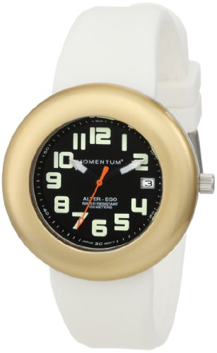 Momentum Ladies 1M-Sp99By1W Alter Ego Yellow Bezel White Band Watch