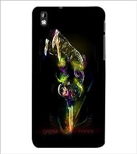 PrintDhaba Break Dance D-1177 Back Case Cover for HTC DESIRE 816 (Multi-Coloured)