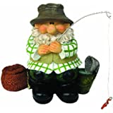 Woodland Wilf Goes Fishing Polyresin Garden Gnome
