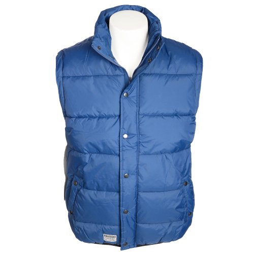 Fletcher & Lowe Men's Petrol Blue Nylon Puffa Gilet in Size Medium