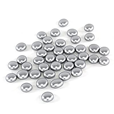 CYS Vase Filler Gem Glass Confetti, Table Scatters, Silver, 5 lbs, Approximately 500 pcs