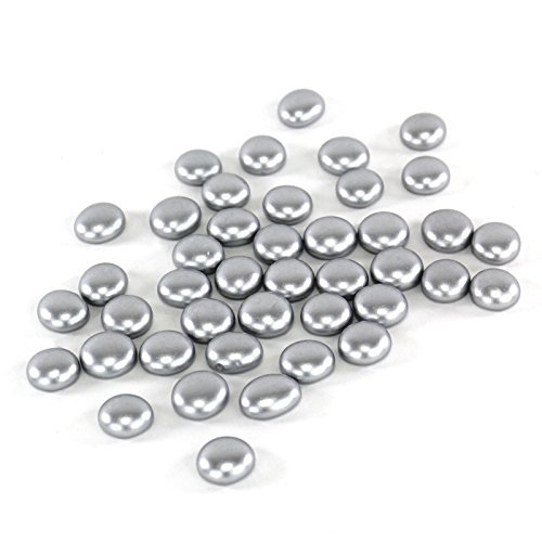 CYS Vase Filler Gem Glass Confetti, Table Scatters, Silver, 5 lbs, Approximately 500 pcs (Pink Vase Filler Gems compare prices)