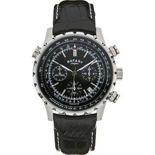 Rotary Pilot Style Men's Watch