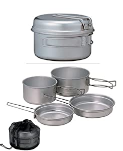 Snow Peak Titanium Multi Compact Cookset by Snow Peak