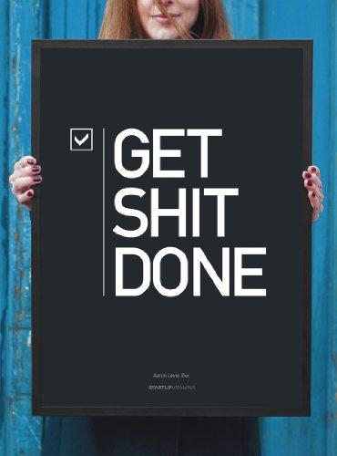 "Framed Poster ""Get Shit Done"" Startup Vitamins 18x24"