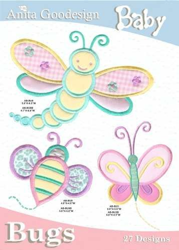Anita Goodesign Embroidery Machine Designs Baby Bugs front-409553
