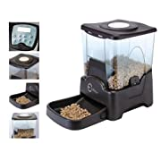 Esky® Programmable Large Capacity Automatic Pet Feeder Electronic Portion Size Adjustable Dog Cat Feeder LCD Display