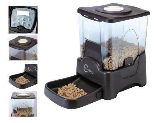 Buy Esky Programmable Large Capacity Automatic Pet Feeder Electronic  Portion Size Adjustable Dog Cat Feeder LCD Display Today