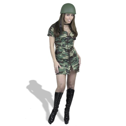 Camouflage, Women Small  - Double Zip GI Gal Costume