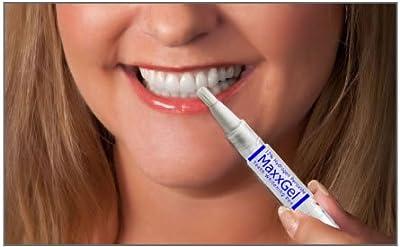 MaxxGel Teeth Whitening Pen. 12% Hydrogen Peroxide for whitening teeth on the Go! Bundle of 2 Pens.