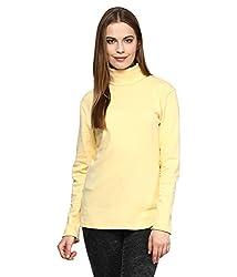 Hypernation Lemon Color High Neck Cotton T-shirt